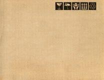 Simboli della scatola di cartone Fotografia Stock Libera da Diritti