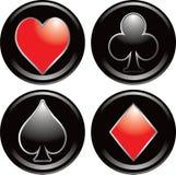 Simboli della scheda di gioco Fotografie Stock