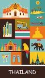 Simboli della Tailandia illustrazione di stock