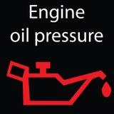 Simboli delle luci d'avvertimento del cruscotto dell'automobile Segni d'avvertimento dell'icona Illustrazione di vettore Fotografia Stock