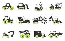 Simboli delle macchine della costruzione Fotografia Stock Libera da Diritti
