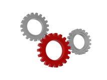 Simboli delle ruote di ingranaggio isolati Fotografia Stock