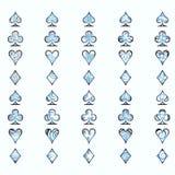 Simboli delle schede di gioco Immagini Stock Libere da Diritti