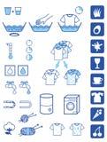 Simboli detersivi della polvere Immagini Stock