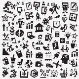 Simboli di affari - insieme dell'icona, elementi di progettazione di vettore Royalty Illustrazione gratis