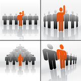 Simboli di affari teamplay illustrazione di stock