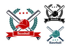 Simboli di baseball Immagine Stock
