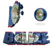 Simboli di Belize Fotografia Stock Libera da Diritti