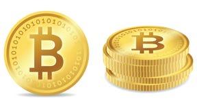Simboli di Bitcoin Immagine Stock