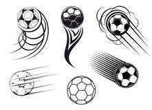 Simboli di calcio e di gioco del calcio illustrazione di stock