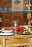 Simboli di cerimonia nuziale di Cristianità Immagini Stock Libere da Diritti