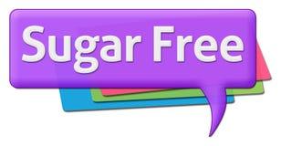 Simboli di commento di Sugar Free Text With Colorful Fotografia Stock