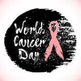 Simboli di consapevolezza del cancro al seno Immagini Stock