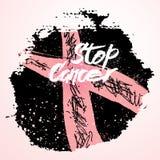 Simboli di consapevolezza del cancro al seno Fotografia Stock Libera da Diritti