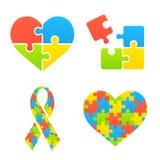 Simboli di consapevolezza di autismo Fotografie Stock Libere da Diritti