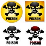 Simboli di Crossbones del cranio del veleno illustrazione vettoriale