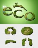 Simboli di ecologia Immagine Stock