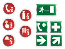 Simboli di emergenza Fotografia Stock Libera da Diritti