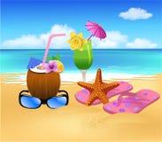 Simboli di estate Fotografia Stock