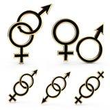 Simboli di genere. Immagini Stock Libere da Diritti