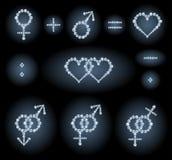 Simboli di genere Fotografie Stock Libere da Diritti