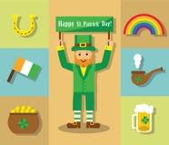 Simboli del giorno di san patrizio immagine stock - St patricks giorno fogli di colore giorno ...