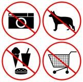 Simboli di interdizione Immagine Stock