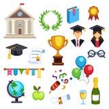 Simboli di istruzione di graduazione Fotografie Stock