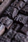 Simboli di legno cinesi Fotografia Stock Libera da Diritti