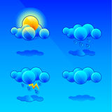 Simboli di meteorologia Immagine Stock Libera da Diritti