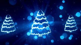 Simboli 7 di Natale stock footage