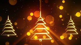 Simboli 21 di Natale stock footage