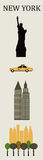 Simboli di New York. Immagini Stock