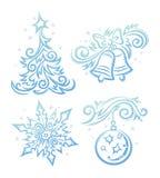 Simboli di nuovo anno Immagini Stock