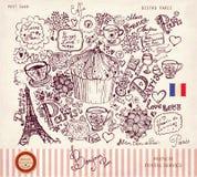 Simboli di Parigi illustrazione vettoriale