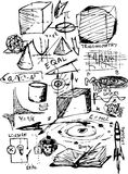 Simboli di per la matematica Immagine Stock