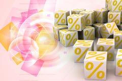 Simboli di percentuale Immagine Stock