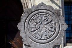 Simboli di pietra di vecchia città Fotografia Stock Libera da Diritti