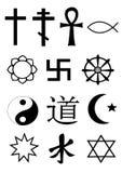Simboli di religione del mondo Fotografia Stock