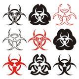 Simboli di rischio biologico illustrazione vettoriale