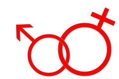 Simboli di sesso Fotografia Stock