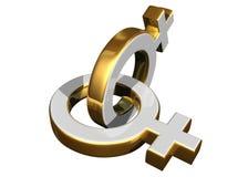 Simboli di sesso femminile Fotografia Stock Libera da Diritti