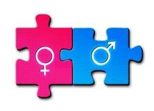 Simboli di sesso maschio e femminile Fotografia Stock Libera da Diritti