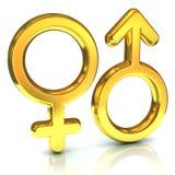 Simboli di sesso maschio e femminile Fotografie Stock