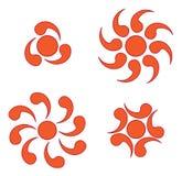 Simboli di Sun Immagine Stock Libera da Diritti