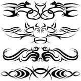 Simboli di Tatoo Fotografia Stock Libera da Diritti