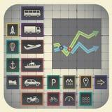 Simboli di trasporto Fotografia Stock Libera da Diritti