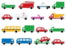 Simboli di trasporto della città Immagini Stock