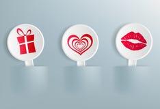 Simboli di Valentine Day Fotografie Stock
