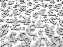 Simboli di valuta Fotografia Stock Libera da Diritti